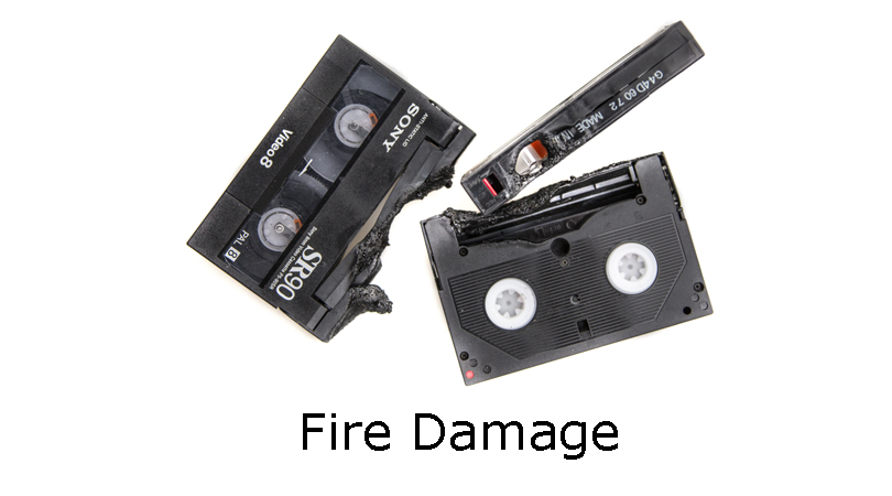 Fire damaged video